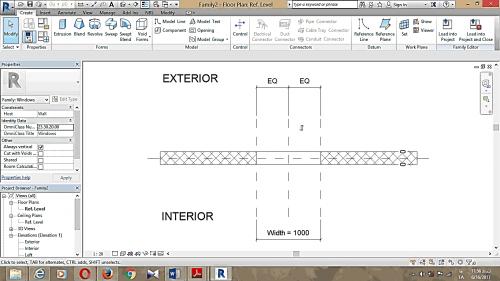 محیط مورد نظر برای طراحی پنجره