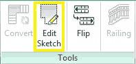 دکمه Edit Sketch