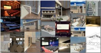 Revit cinema پروژه آماده رویت سینما دانلود