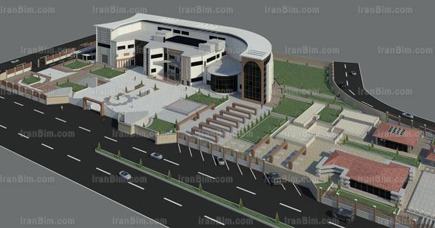 دانلود پروژه آماده رویت دانشکده معماری رندر 2