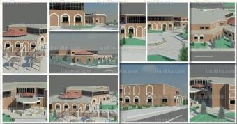 دانلود رساله پروژه آماده رویت طراحی سالن ورزش باستانی زورخانه