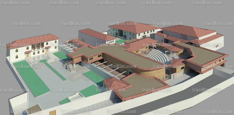 دانلود پروژه خانه فرهنگ گیلان پروژه آماده Rvit رساله معماری