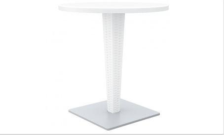 میز گرد با پایه آلو مینیومی با صفحه ورزالیت ریوا نظری0
