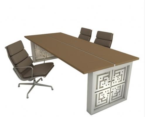 میز کنفرانس مدل پیور فرم و فضا