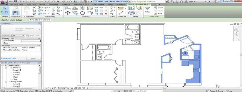 ابزار های مدلسازی ساخت و ساز در رویت
