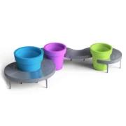 فلاور-باکس-پلاستیکی-طرح-LINEA-رنگارنگ-محوطه