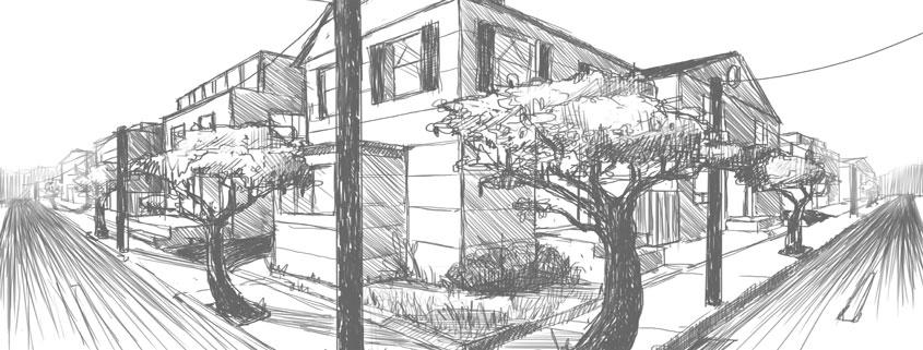 آموزش Lynda Drawing 2-Point Perspective