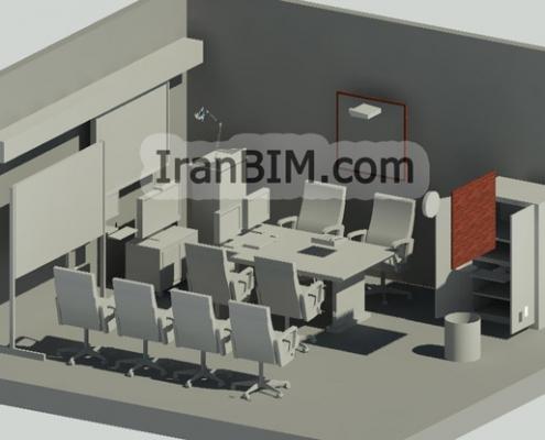 مدل آماده رویت اتاق جلسه اتاق جلسات 3
