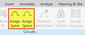 گزارش گیری از تابلو برق رویت مپ تصویر 9 Assign Spare و Assign Space