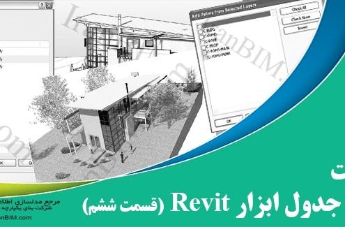 اصول پایه و جدول ابزار revit قسمت ششم