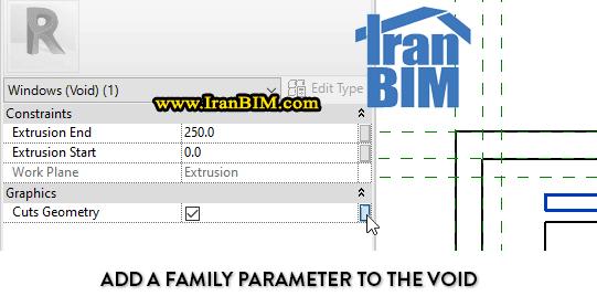 Voids پارامترهای type و هندسه Family را کاهش می دهد